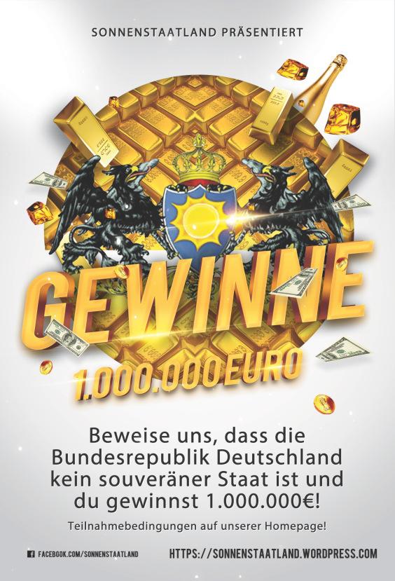 Gewinne 1 Million Euro! Beweise uns, dass die Bundesrepublik kein souveränder Staat ist.