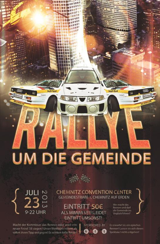 Rallye umd die Gemeinde - Wer macht das Rennen? Till aus dem Trog oder Kommissar Mimimi?