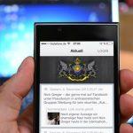 Smartphone SSL-App offen