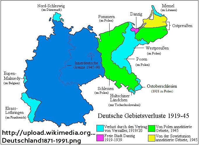 deutsche gebietsverluste 1918-1945