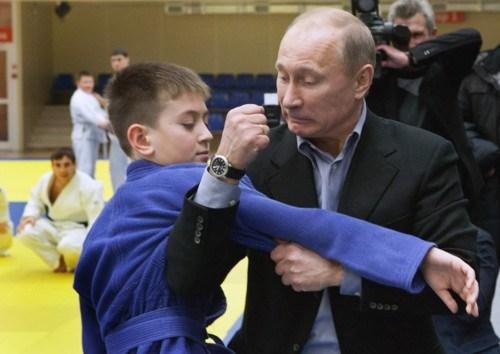 Putin und Junge