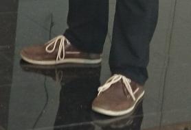 Das Fußvolk mit standesgemäßer Fußbekleidung
