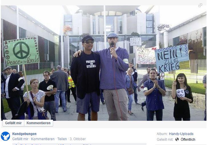 kundgebungen - facebook Seite